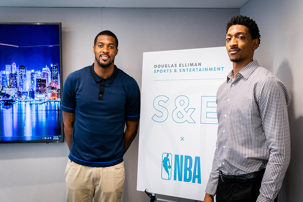 Derrick Favors and Malcolm Miller participated in the NBA Career Crossover Program with Douglas Elliman in New York City.